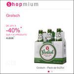 Offre de Remboursement Shopmium : Jusqu'à 40% sur la Bière Grolsch - anti-crise.fr