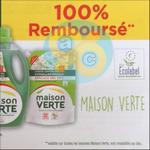 Offre de Remboursement Maison Verte : Lessive 100% Remboursé en 2 Bons - anti-crise.fr