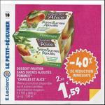Bon Plan Dessert Fruitier Charles & Alice chez Leclerc - anti-crise.fr