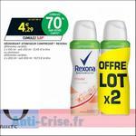 Bon Plan Déodorant Compressé Rexona chez Intermarché - anti-crise.fr
