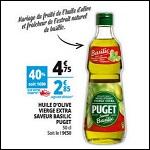Bon Plan Puget : Huile d'Olive Saveur Basilic chez Auchan - anti-crise.fr