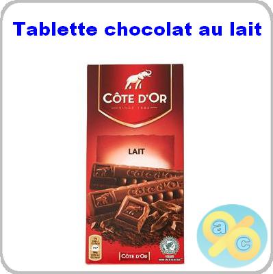 tests de produits cote d or tablette chocolat au lait. Black Bedroom Furniture Sets. Home Design Ideas
