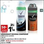 Bon Plan Rexona : Déodorant Men Ace Fresh chez Auchan - anti-crise.fr