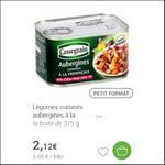 Bon Plan Aubergines Cuisinées à la Provençale Cassegrain - anti-crise.fr