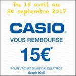 Offre de Remboursement Casio : 15€ Remboursés sur Calculatrice Graph 90+E - anti-crise.fr
