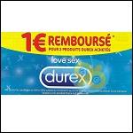 Offer de Remboursement Durex : 1€ Remboursé sur 2 produits - anti-crise.fr