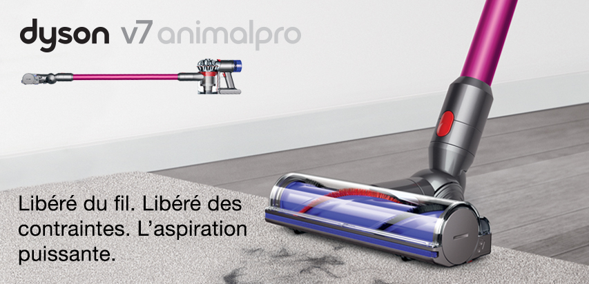 test de produit les initi s aspirateur dyson v7 animalpro. Black Bedroom Furniture Sets. Home Design Ideas
