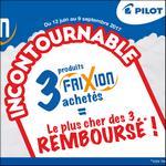 Offre de Remboursement Pilot : 3ème Stylo Frixion 100% Remboursé - anti-crise.fr