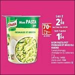 Bon Plan Mon Pasta Pot Knorr chez Auchan - anti-crise.fr