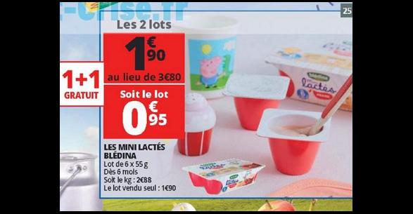 Bon Plan Blédina Mini Lactés chez Auchan - anti-crise.fr