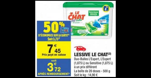 Bon Plan Lessive Le Chat chez Carrefour Market - anti-crise.fr