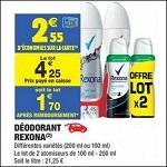 Bon Plan Déodorant Rexona chez Carrefour Market - anti-crise.fr