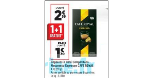 bon de reduction cafe royal