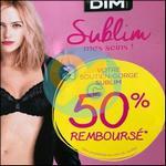 Offre de Remboursement Dim : Soutien-Gorge Sublim 50% Remboursé - anti-crise.fr