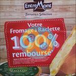 Offre de Remboursement EntreMont : Fromage à Raclette 100% Remboursé en 2 Bons - anti-crise.fr