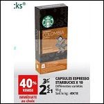 Bon Plan Capsules Espresso Starbucks chez Auchan - anti-crise.fr