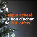 Bon Plan Ikéa : 1 Sapin de Noël à 24,99€ Acheté = 1 Bon d'achat de 20€ Offert - anti-crise.fr