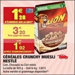 Lion Crunchy Muesli chez Carrefour Market