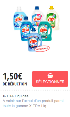 Bon de reduction lessive xtra liquide
