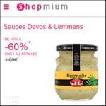 Offre de Remboursement Shopmium : Jusqu'à 60% sur les Sauces Devos & Lemmens - anti-crise.fr