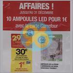 Bon Plan Carrefour : 10 Ampoules LED pour 1€ - anti-crise.fr
