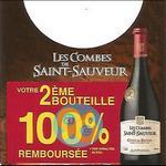 Offre de Remboursement Les Combes de Saint-Sauveur : 2ème Bouteille de Côtes du Rhône 100% Remboursée - anti-crise.fr