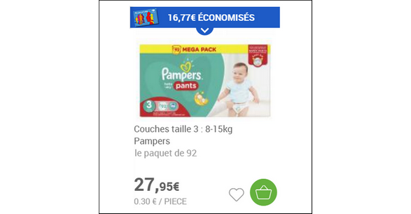 Bon plan couches pampers chez carrefour drive - Bon de reduction couches pampers a imprimer ...