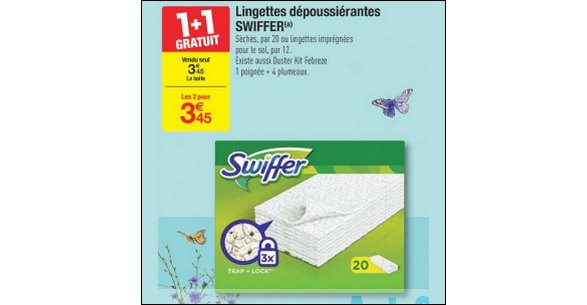 Bon Plan Kit Duster et Recharges Lingettes Swiffer chez Carrefour - anti-crise.fr