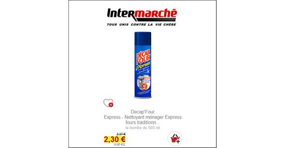 Nous Avons Releve Le Prix Du Bidon De Nettoyant DecapFour Express A 230EUR Sur Un Drive Intermarche