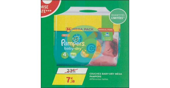 Bon Plan Couches Pampers Baby Dry Chez Intermarché 3001 1102