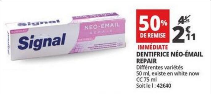 Bon plan dentifrice n o email signal chez auchan for Email auchan