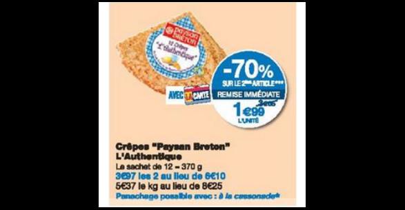 Bon Plan Crêpes Authentiques Paysan Breton chez Monoprix - anti-crise.fr