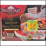 Offre de Remboursement Delpeyrat : 1 Paquet de Jambon de Bayonne + Fromage à Raclette + Pommes de terre = 5€ Remboursés - anti-crise.Fr