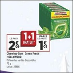 Bon Plan Chewing-Gums Hollywood Green Fresh chez Géant Casino - anti-crise.fr