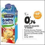 Bon Plan Compote Saint Mamet chez Leclerc - anti-crise.fr