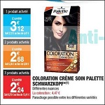 Bon Plan Coloration Palette Schwarzkopf chez Carrefour Market (06/02 - 18/02) - anti-crise.fr