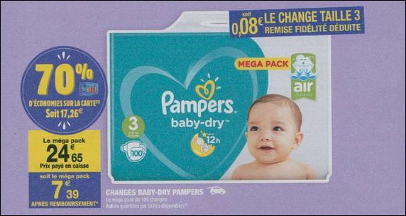 Bon plan couches pampers baby dry chez carrefour market 27 02 11 03 catalogues promos - Reduction couches pampers a imprimer ...