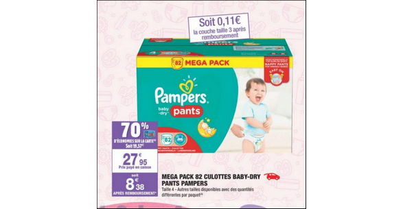 Bon plan couches pampers baby dry pants chez carrefour - Bon de reduction couches pampers a imprimer ...