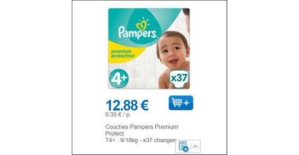 Bon plan couches pampers premium protection chez leclerc 01 02 28 02 - Prix couches pampers leclerc ...
