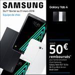 Offre de Remboursement Samsung : Jusqu'à 50€ remboursés Tablette Galaxy Tab A + Book Cover - anti-crise.fr
