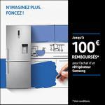Offre de Remboursement Samsung : Jusqu'à 100€ remboursés sur Réfrigérateur - anti-crise.fr