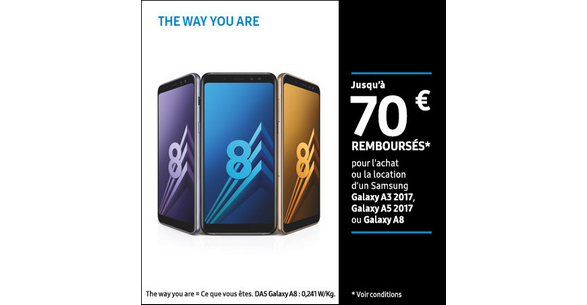 samsung remboursement 70 euros