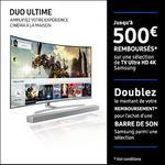 Offre de Remboursement Samsung : Jusqu'à 500€ Remboursés sur TV - anti-crise.fr
