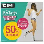 Offre de Remboursement Dim : 50% Remboursé sur votre 2ème Achat Pockets - anti-crise.fr