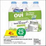 Bon Plan Lait Demi-Ecrémé Bleu-Blanc-Coeur Pâturages chez Intermarché - anti-crise.fr