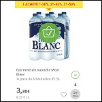 Bon Plan Eau Mont Blanc 1,5 L chez Carrefour Market Drive (18/02) - anti-crise.fr