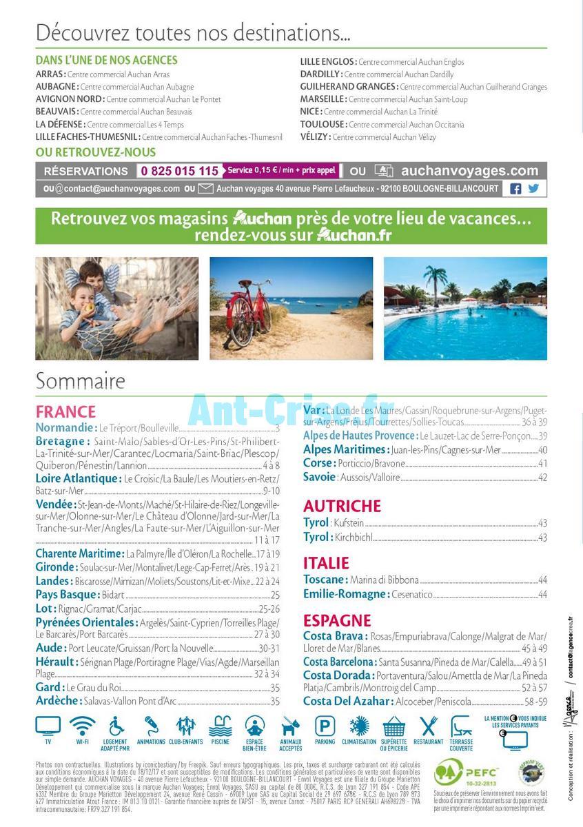 septembre2018 Catalogue Auchan du 21 mars au 21 septembres 2018 (Voyages) (2)