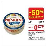 Bon Plan Camembert Bleu Président chez Leader Price le 03/04 - anti-crise.Fr