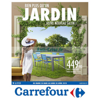 Catalogue Carrefour du 20 mars au 30 avril 2018 (Mobilier de Jardin)