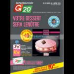 Catalogue G20 du 28 mars au 8 avril 2018